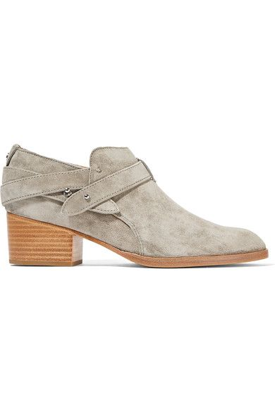 rag & bone - Harley Suede Ankle Boots - Stone - IT