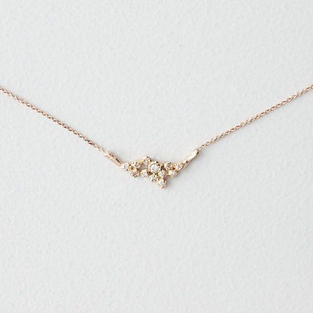 jerry grant rose gold 12 diamond necklace