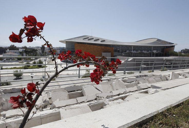 Broken concrete outside the Olympic taekwondo stadium.