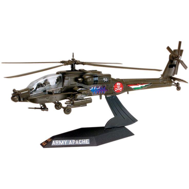 Revell Plastic Model Kit-AH-64 Apache Helicopter Desktop 1:72 - ah-64 apache helicopter desktop 1:72