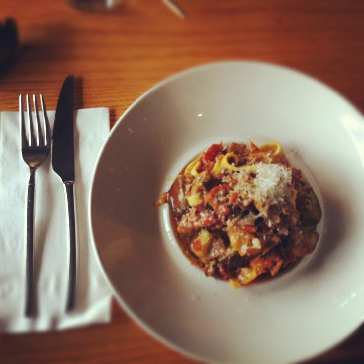 ... tomato confit, bacon, mushrooms, roasted garlic, chili and eggplant