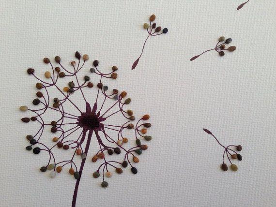 Arte di ghiaia / spiaggia pietra arte / tela arte / penna