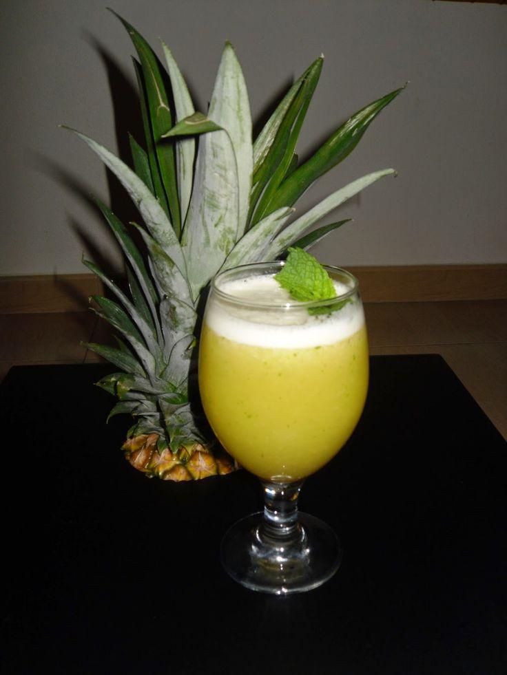 Aromas da Ria: #Sumo de abacaxi hortelã e gengibre