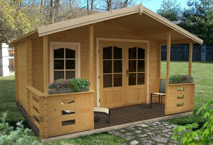 Caseta de madera de 17 09 m2 louvigne ref 15326703 - Porches leroy merlin ...