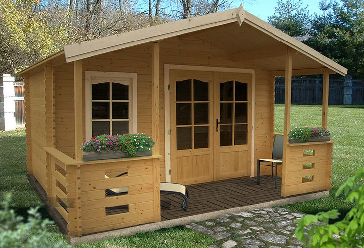 Caseta de madera de 17,09 m2 LOUVIGNE Ref. 15326703 - Leroy Merlin