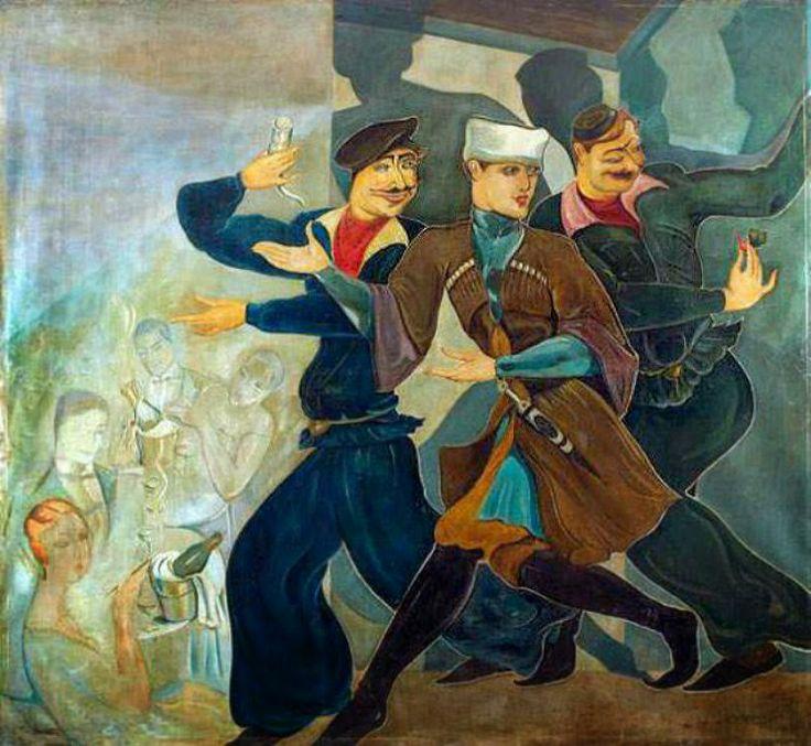Lado Gudiashvili (1896-1980) - A Tbilisi Scene