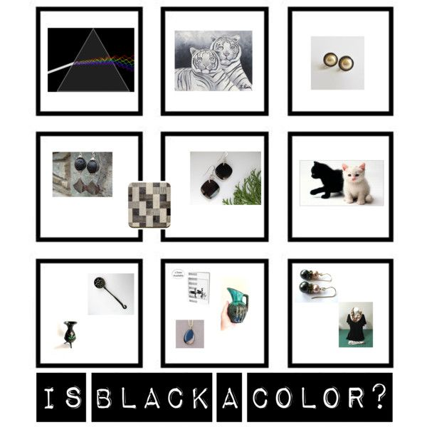 Is black a color? by underlyingsimplicity on Polyvore featuring art, vintage, jewelry, homedecor and handmade
