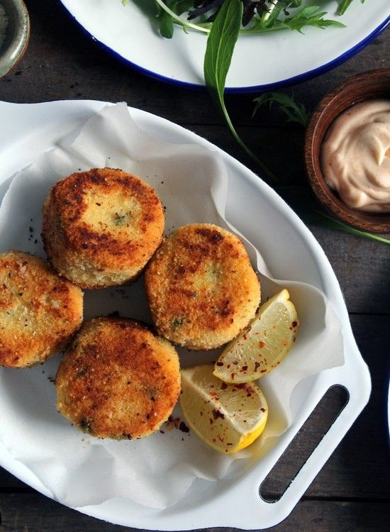 Millet Risotto Cakes with Parmesan and Peas | Dish