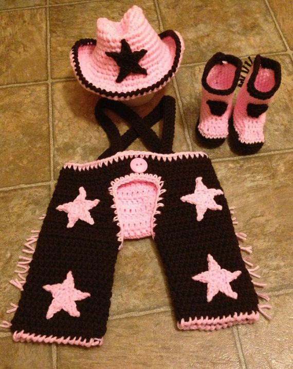 Crochet Cowgirl NB through 6 now cowgirl chaps, cowgirl hat, cowgirl boots photography prop on Etsy, $50.77 CAD