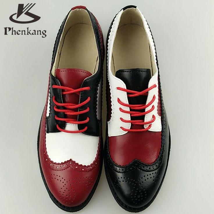 2016 Натуральная Кожа Большой Размер Женщины 11 Дизайнер Старинные Плоские обувь Круглый Носок Ручной Работы Белый Криперс Оксфорд Обувь Для Женщин мех купить на AliExpress
