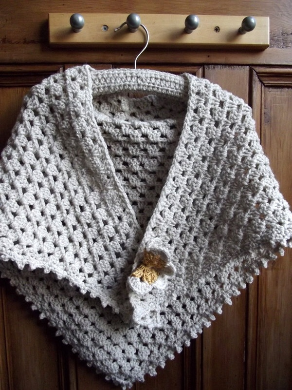 Girls clothing knitwear accessories lace crochet shawl scarf cape vintage inspired cream detachable butterfly. £24.00, via Etsy.
