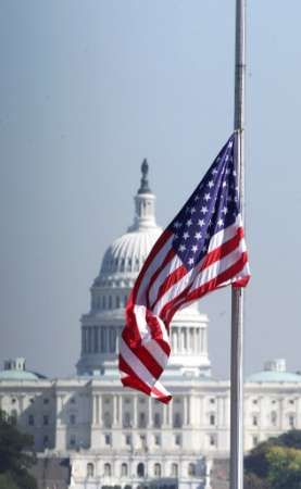 This site can send you e-mail reminders for when to  hang your American flag at half staff.