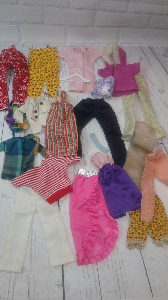 Vintage Barbie Barbie Clone And Handmade Doll Clothes 70 S 80 S