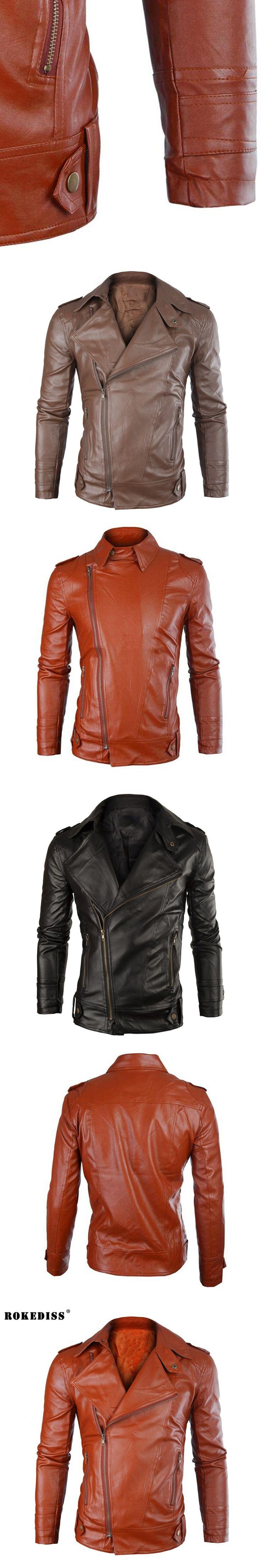 ROKEDISS 2017 men fashion PU jacket masculino fur coat middle-aged PU jacket coat