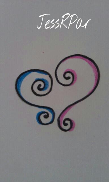 Heart linking Best friend tattoo.
