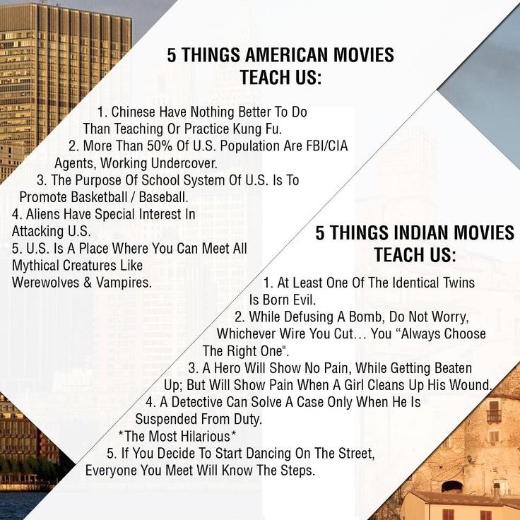 Hollywood and Bollywood Movies