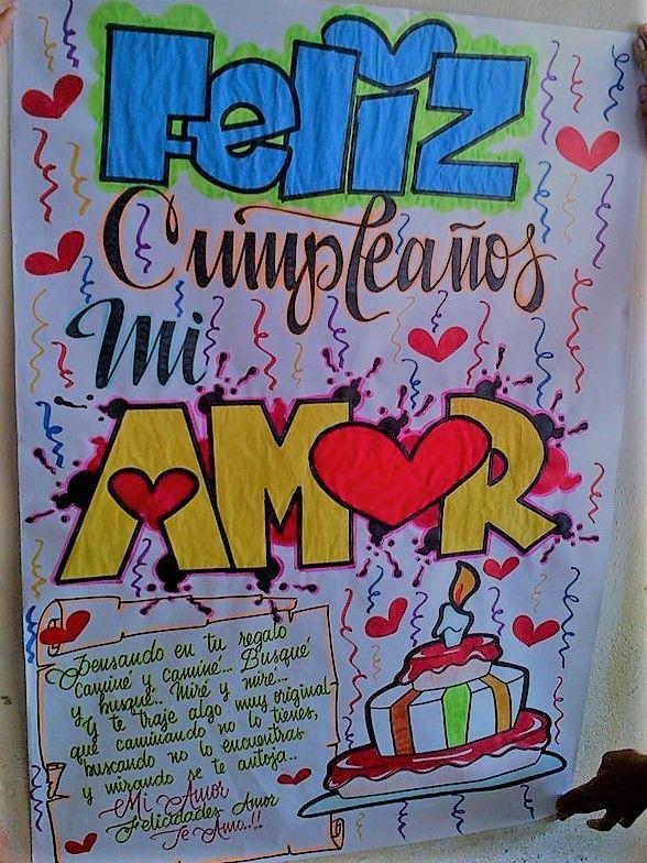 Pancartas De Cumpleanos Dibujos Pinterest Boyfriend Gifts Bf