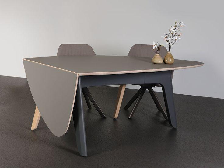 Foliant tafel - design tafel met uitklapbaar blad - Castelijn Wonen