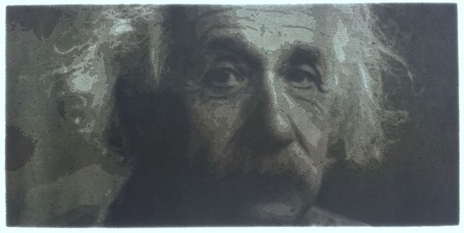 Einstein lithophane – free 3D model ready for 3D Printing. Available formats: Stereolithography (.stl)