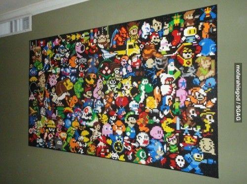 Nintendo Wall Art 35 best perler games wall art images on pinterest | bead patterns