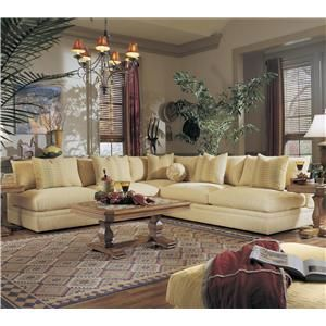 Melrose Place Three Piece Sectional With Two Loveseats By Klaussner   Miller  Brothers Furniture   Sofa
