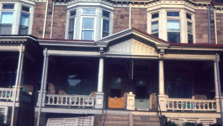 35mm Slide Street Scene Houses Pennsylvania Kodak Ektachrome 1964