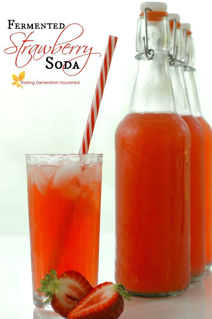 Fermented Strawberry Soda