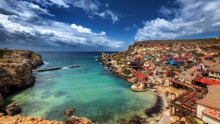 Malta Pueblo De Popeye Mar Mediterraneo