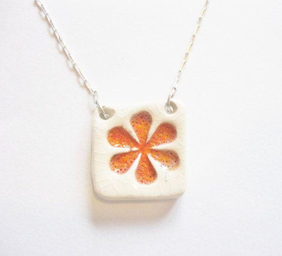 Ceramic Floral Pendant