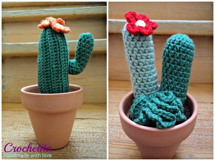 Crocheted cactus Cactus de crochet
