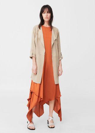 Кожаный жакет - Куртки - Женская | MANGO МАНГО Россия (Российская Федерация)