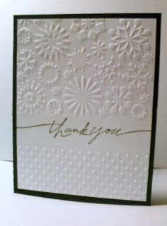 Handcrafted Memories: Cuttlebug Folder Cards using the partial embossing technique described in the video tutorial