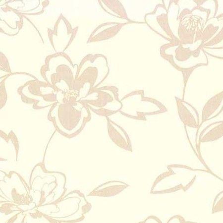 Çiçek Altın-Bej Emboss Duvar Kağıdı