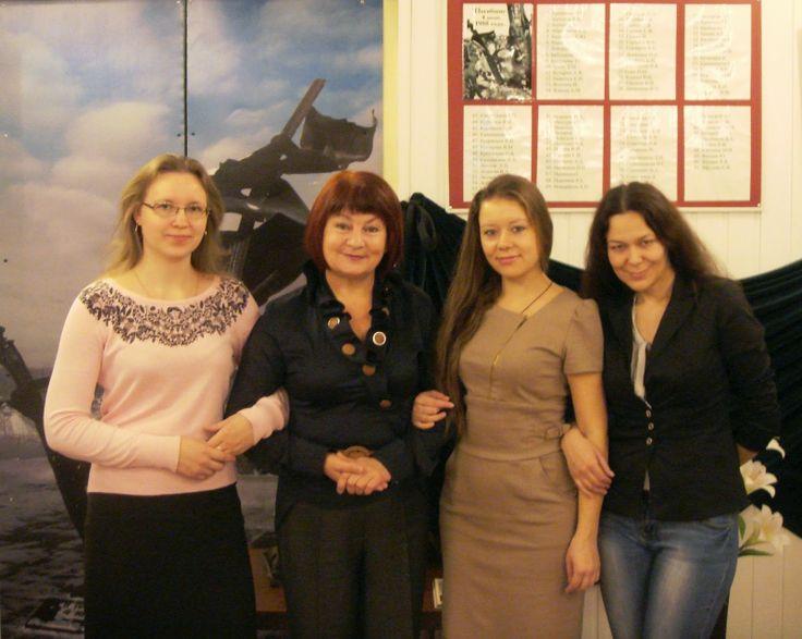 2014 г. Коллектив библиотеки-филиала №8: Е.И.Гордеева, Н.П.Помелова, В.Ю.Володина, Т.В.Ершова (слева направо)