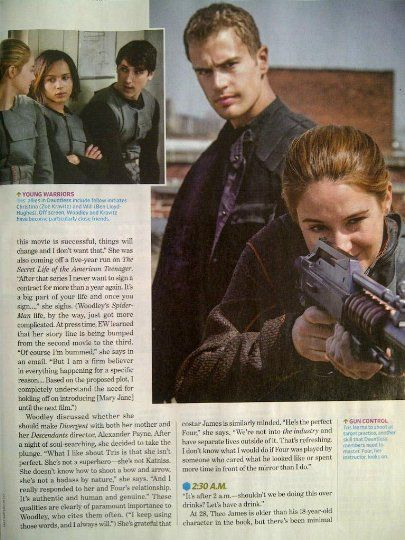 Divergent -  SPOILER ALERT!!! NEW DIVERGENT MOVIE STILLS IN ENTERTAINMENT WEEKLY!!! PLUS NEW BEHIND THE SCENES INTERVIEWS WITH SHAILENE AND THEO!!!!!! (showing 1-50 of 189)