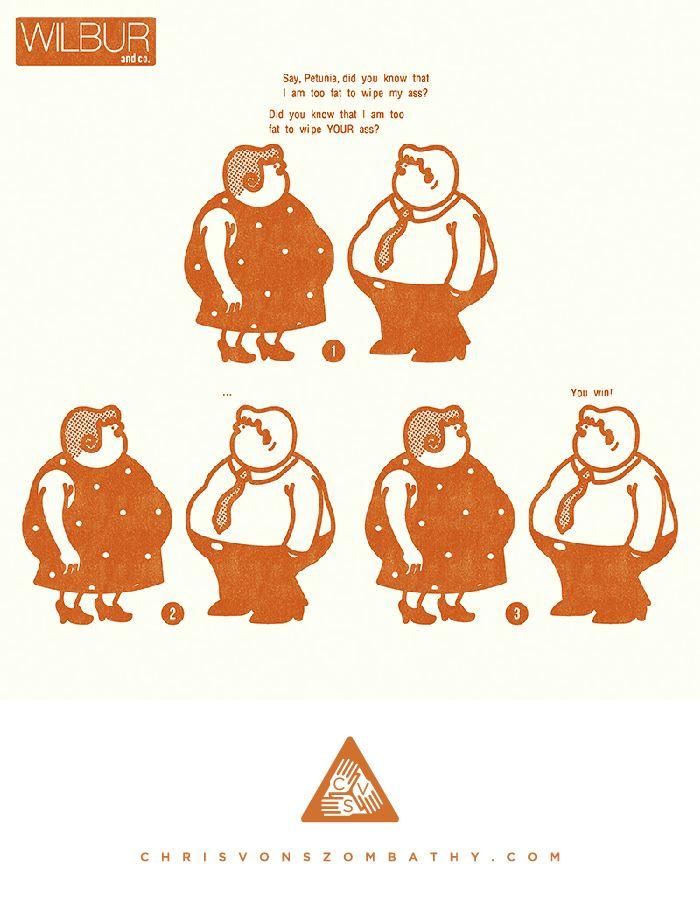 """""""Wilbur & Co."""" an illustration by artist/designer Chris von Szombathy."""