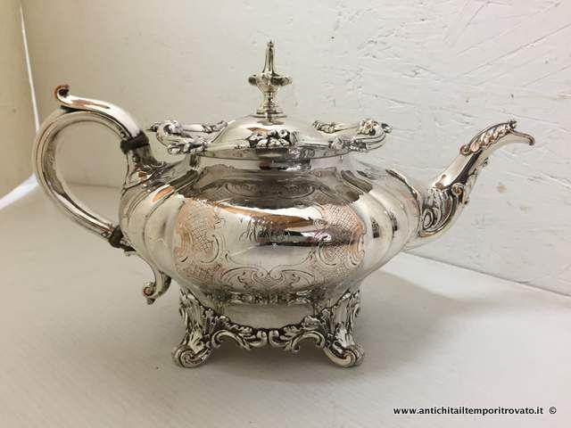 Sheffield d`epoca - Teiere  Antica teiera John Townsen- Cape Colony - Antica teiera placcata argento Immagine n°1