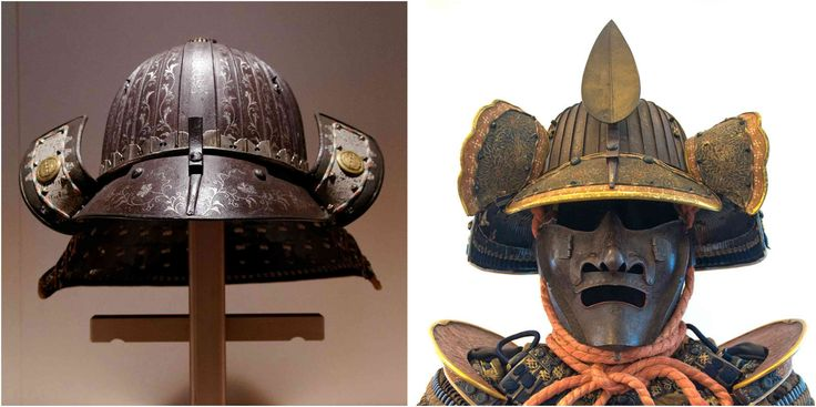 Surviving examples of #Kabuto, the beautiful & extravagant 17th-century #Samurai #helmets #artifacts #warriors