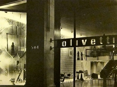 New York Showroom, Designed by BBPR studio, Room Decorated by Costantino Nivola, 1954