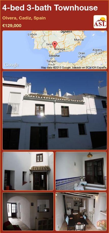 4-bed 3-bath Townhouse in Olvera, Cadiz, Spain ►€129,000 #PropertyForSaleInSpain