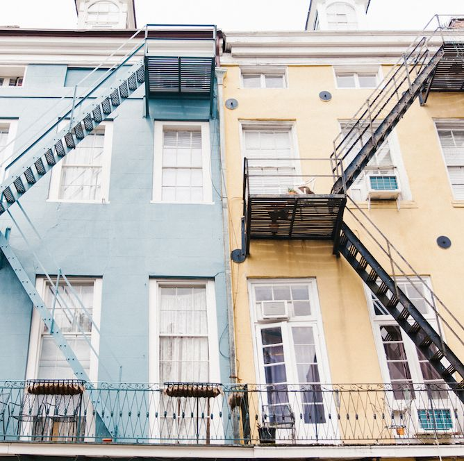 We love a little stair symmetry above the streets of the French Quarter.