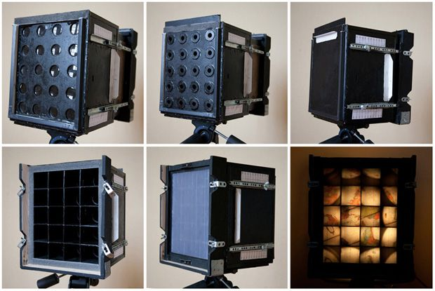 A Homemade Camera That Uses Twenty Separate Lenses Guerin Pinhole Lens 1