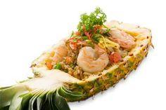 Arroz frito com abacaxi | Receitas da culinária tailandesa | Cozinha Thai