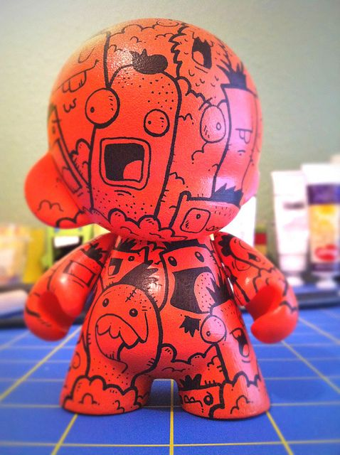 red scare custom munny make your own--customizable kidrobot munny toys available at www.lazydazeco.com!