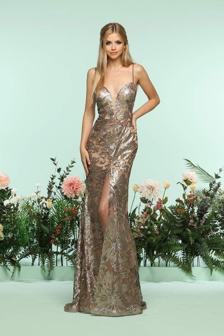 Long Open-Back Zoey Grey Designer Prom Dress -PromGirl