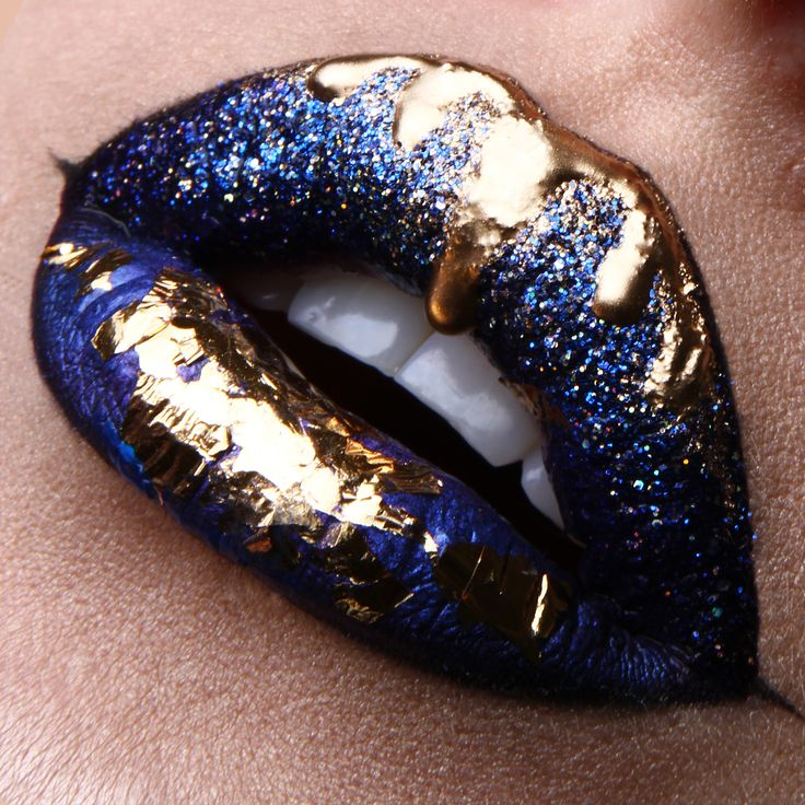 Lip art Dripping gold Instagram: vladamua