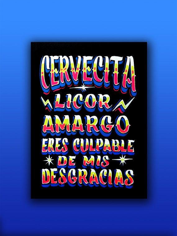 Cervecita Licor Amargo by CargaMaxima on Etsy
