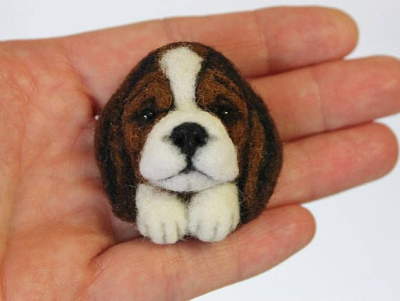 Brooch Felted BeagleBeagle puppy Beagle Collectible Felted