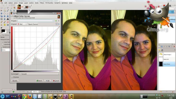 En mi blog - Ajuste de curvas de color en Gimp, estupendo plagio de Photoshop: http://airsynth.es/2014/02/ajuste-curvas-gimp-estupendo-plagio-photoshop/