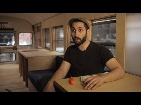 hank bought a bus: architecture student turns bus into a house that tours the USA